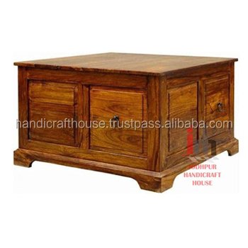 Solid Wood Made Storage Box cum Coffee Table at Low Price