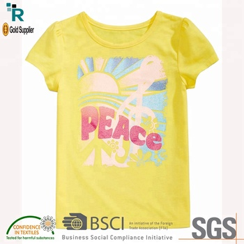 Trending hot products New arrival Girls Printed t shirt manufacturer Bangladesh