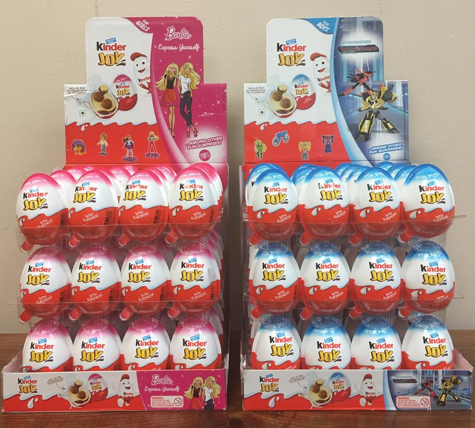 New Kinder Surprise Joy Chocolates Eggs New Shaped with Toy for sale