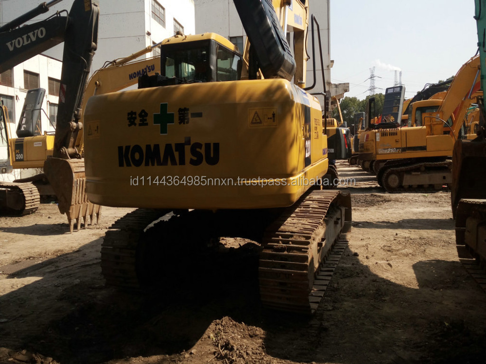 Good condition KOMATSU PC220-7 used excavator used excavator with magnet lift for sale