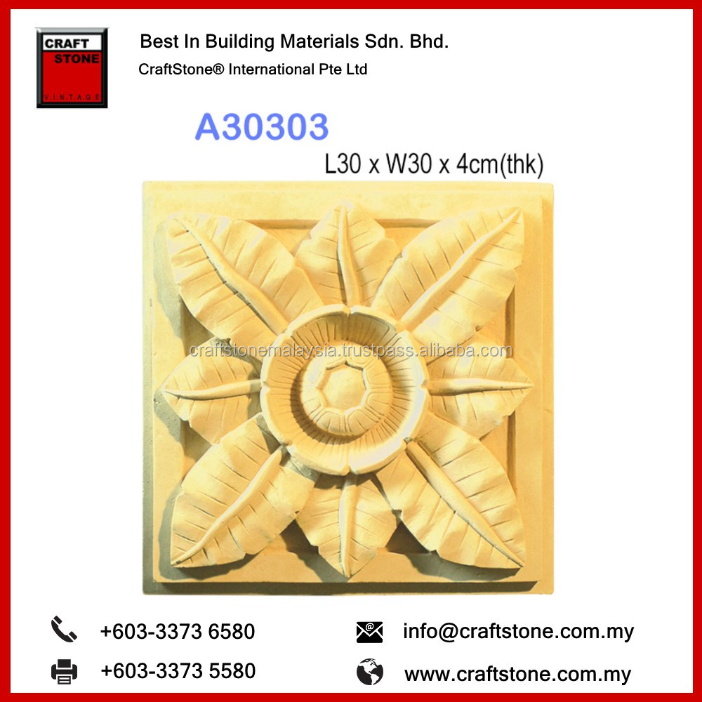 FloraStone A30303 elegant and style Flower Craft Stone Panels Wall Decoration for Exterior Wall