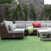 Top selling Antique Synthetic Rattan PE PVC Sofa set Outdoor Furniture
