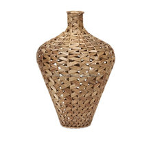 Natural water hyacinth vase ecofriendly/ Wholesale straw vase made in VietNam