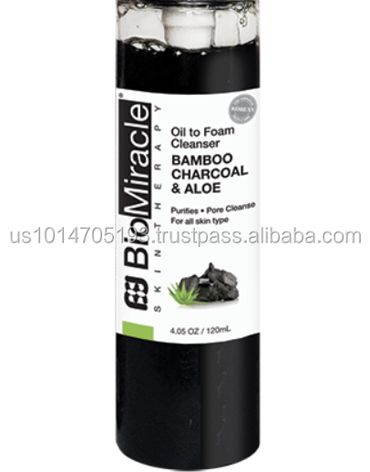 Charcoal BioMiracle Charcoal Bamboo & Aloe Oil to Foam Cleanser