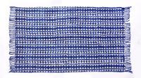 Indian 2017 Hand Loomed Area Rug Hand Block Print Indigo Rug Ethnic Carpet Ethnic Rug