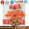 Super quality Elson Cocoa Powder Heart Shape Sweet Milk Solid Valentines Chocolate