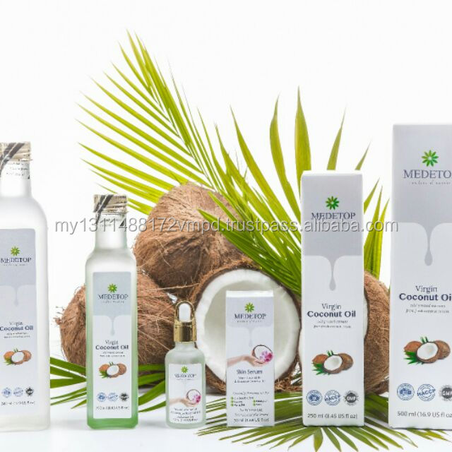 100% Pure, Natural, Fresh Mature Malaysia Coconut Cold Pressed Virgin Coconut Oil