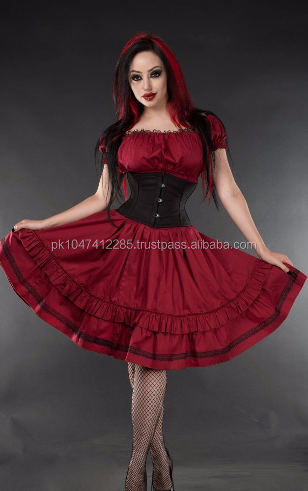 DRACULA WOMEN COTTON DRESS/PRINTED WOMEN DRESS/DIRNDL CLOTHING