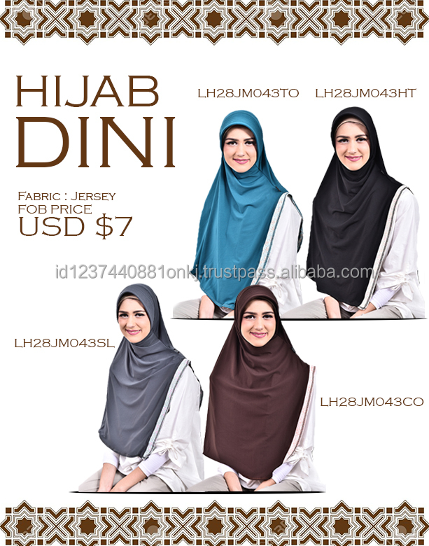 High Quality Women Fashion Muslim Hijab - Dini Black