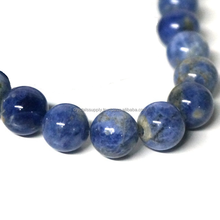 Natural Sodalite Beads For Jewelry Making : Loose Round Gemstone Beads Natural Blue Sodalite Stone Beads