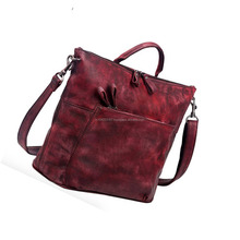 Leather bag genuine designs wholesale prices