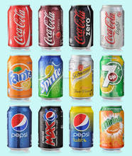 DR PEPPER, COCA, FANTA, MIRINDA SOFT DRINKS 330ml Cans