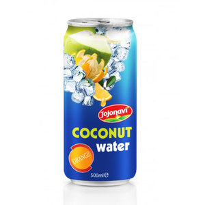 Orange flavour with Coconut water in Aluminium can 500ml Coconut water