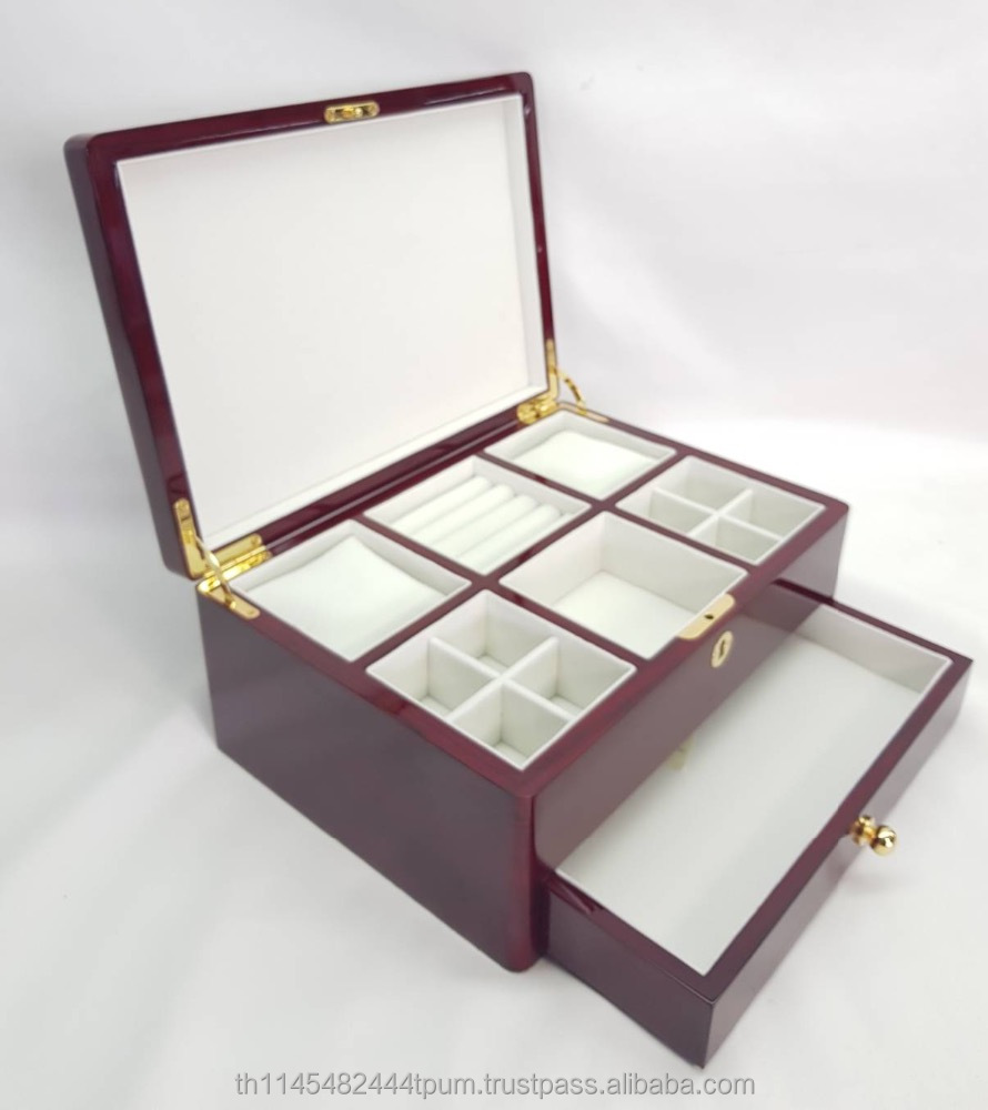 Premium wooden storage box jewelry set jewelry packaging box Made in Thailand