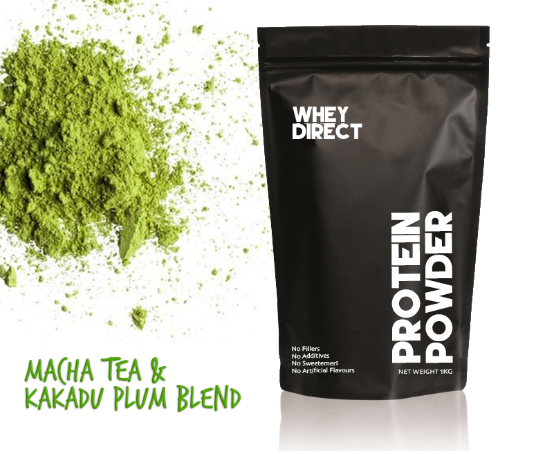 New Zealand Whey Protein Isolate with Matcha Green Tea & Australian Kakadu Plum
