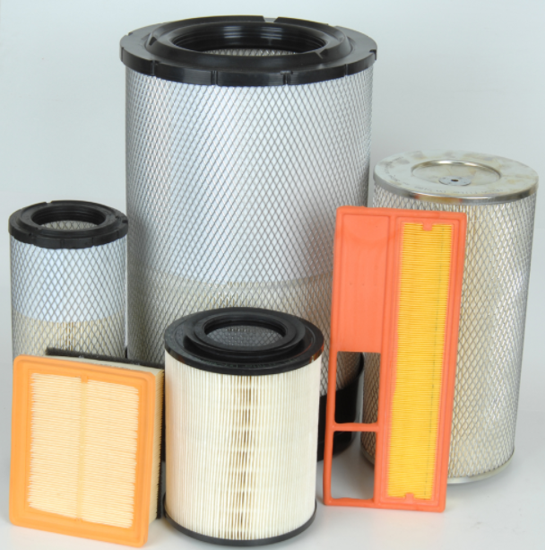 AIR FILTER FOR CARS, TRUCKS, BUSES, MOTORBIKES, HEAVY MACHINES, COMPRESSORS