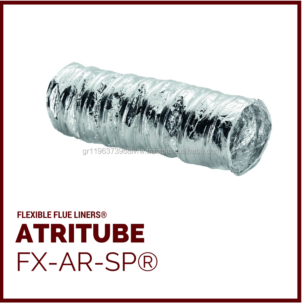 FX-AR-SP Flexible Chimney Flue Liner Pipe Ducts, & Air Ducts with or without thermal insulation