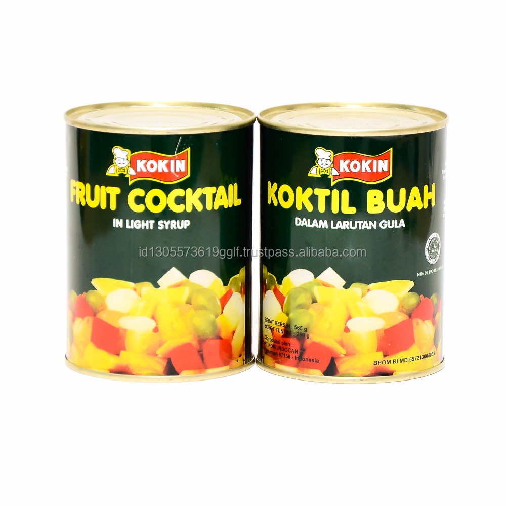 Natural Fresh Fruit Cocktail Canned Fruit For Drinks 565g