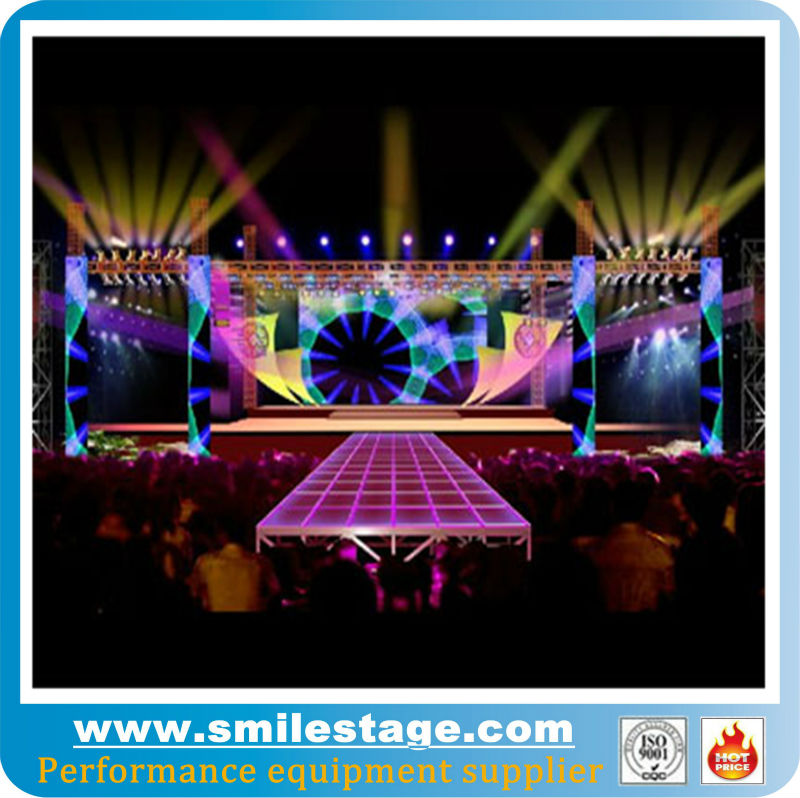 used portable high quality platform hot sale crystal wedding stage