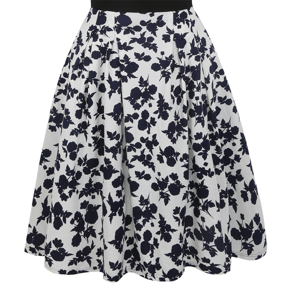 Vintage summer design party women dresses, printed A-line dress clothing factory of China
