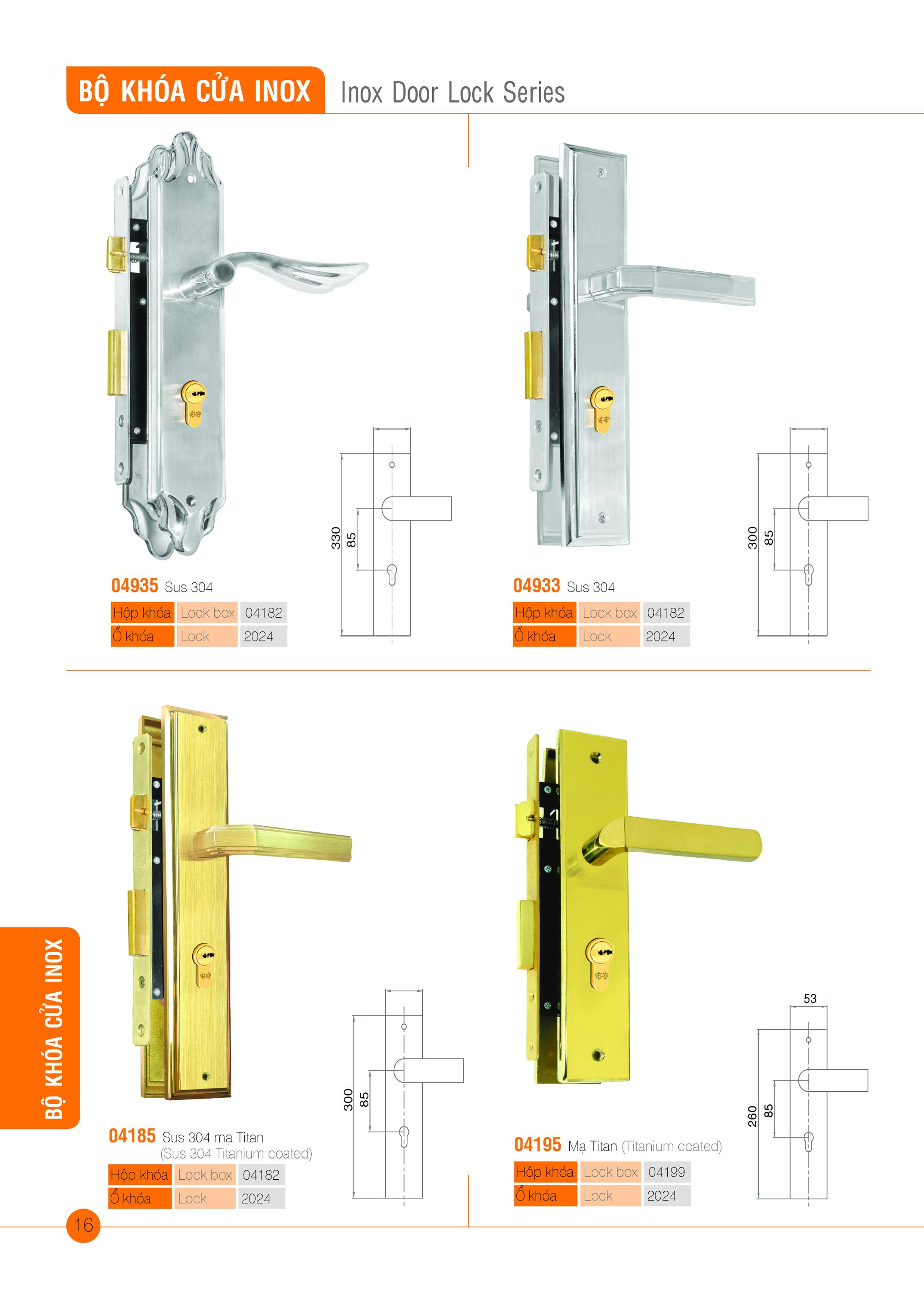 Inox door Lock Series
