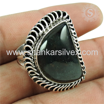 New stylish silver ring picasso jasper gemstone jewellery 925 sterling silver wholesale jewelry