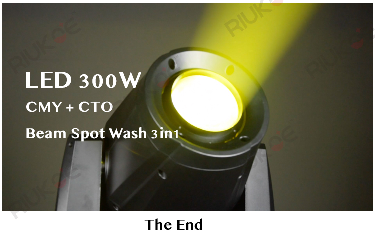 New arrival 300w White hybrid CMY+CTO beam spot wash LED moving head lights
