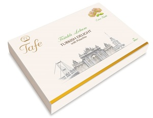 Tafe Turkish Delight with Double Roasted Pistachio Gift Carton Box 300 g - 601 code