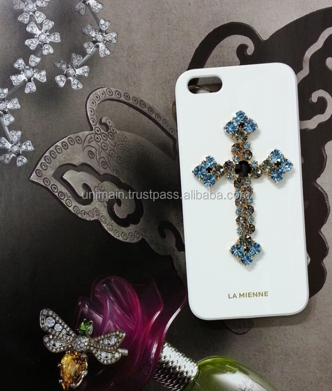 Mobile Phone Case S8 Cell Phone Case with Cross Jewelry Phone Accessories Mobile Phone Case