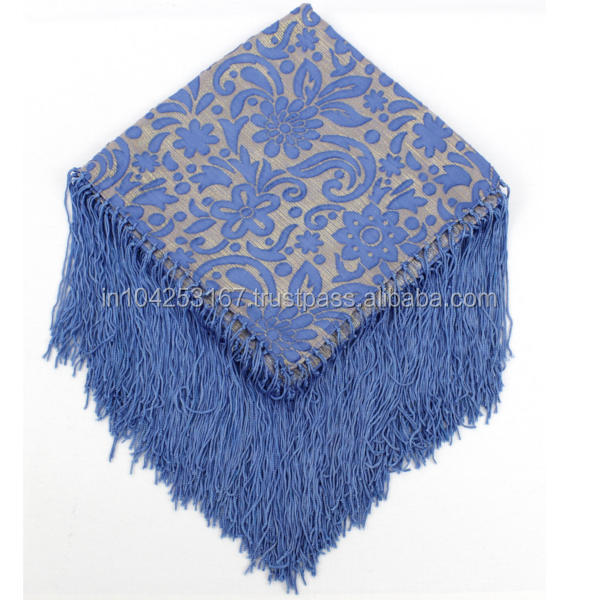 lurex embroidery scarf