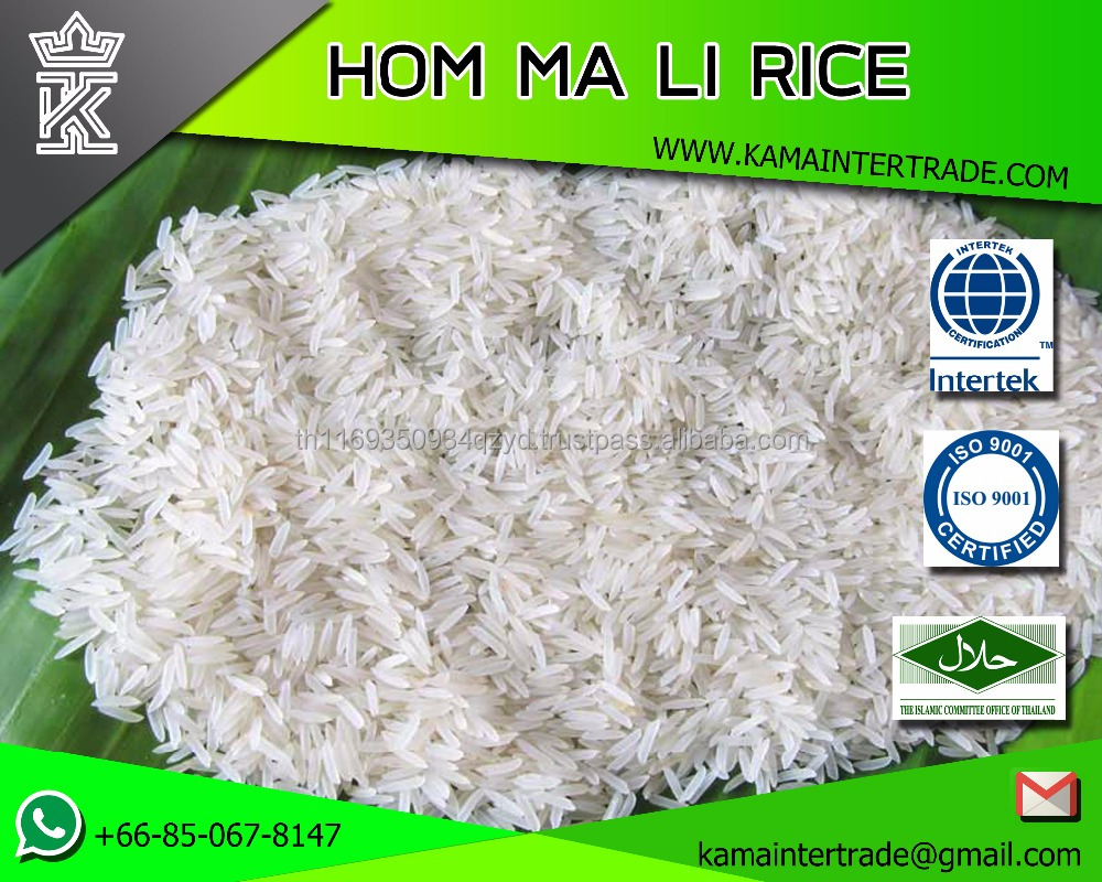 Hom mali Rice and Jasmine Rice Wholesale bulk Thailand