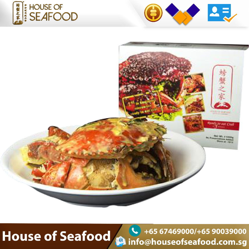 Best selling Ready to Eat Salted Egg Crab Seafood