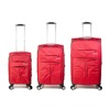 Travel Bag - Set of 3 - Burgundy / Red - SKU: ZH-04-021