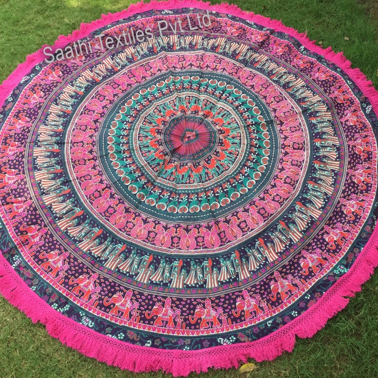 Indian Mandala round beach towels roundi towels tapestry Wholesale at very cheap price