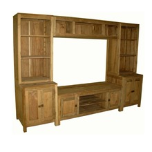Wooden TV Furniture TV Stand Pictures Living Room Showcase Design Wood Distributor Indonesia