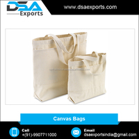 Wholesale High Quality Custom Logo Printed Cotton Canvas Bag Supplier India