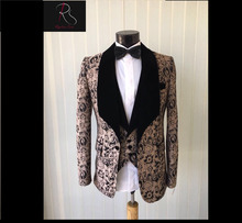 Men's Patterned GROOM Tuxedo Suit 6 colors available