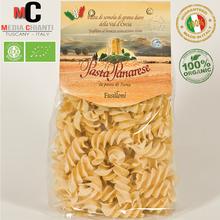 Premium Quality Italian ORGANIC FUSILLONI Durum wheat pasta, bronze died, slow dried