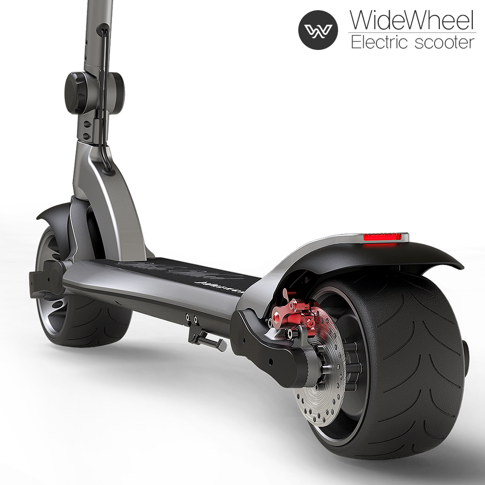 Dual suspension foldable wide wheel electric kick scooter