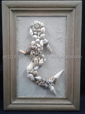 Philippine Handicraft Mermaid Wall Plaque with seashells
