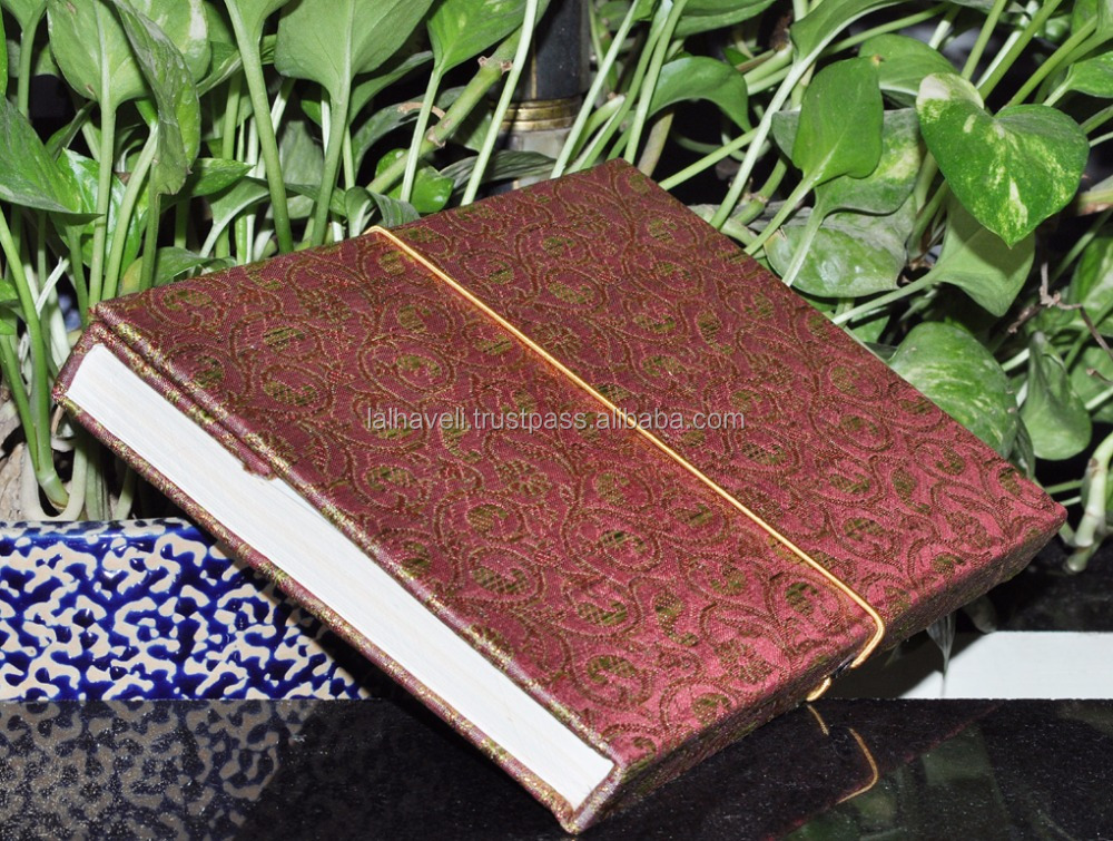 Indian Supplier Silk Cover Journal Memo Diary Handmade Notepad Pink Recycled Blank Paper Notebook