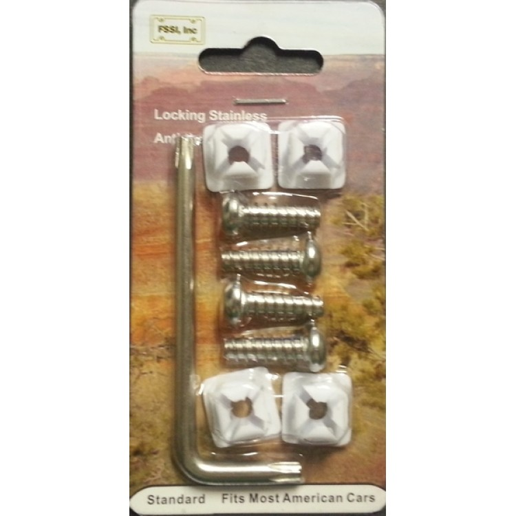 License Plate Locking Fasteners, Domestic Models, Stainless Steel