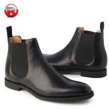 Chelsea Boots Men, Black Finished Genuine Leather Winter Men's Boots, 2020 New Product Ankle Boots