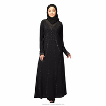 Hawai Stone Worked beautiful Black Lycra Abaya