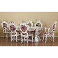 Classic Style Dining Table Set Wooden Material From Indonesia
