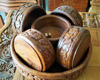 "Hand made Wooden Bowl Set Total Handi Craft ""Walunt Wood"" Material"