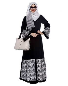 Manufacturer New Model Abaya in Dubai Abaya 2018 Beautiful Islamic Bell Sleeve Front Open Abaya latest Burqa Designs