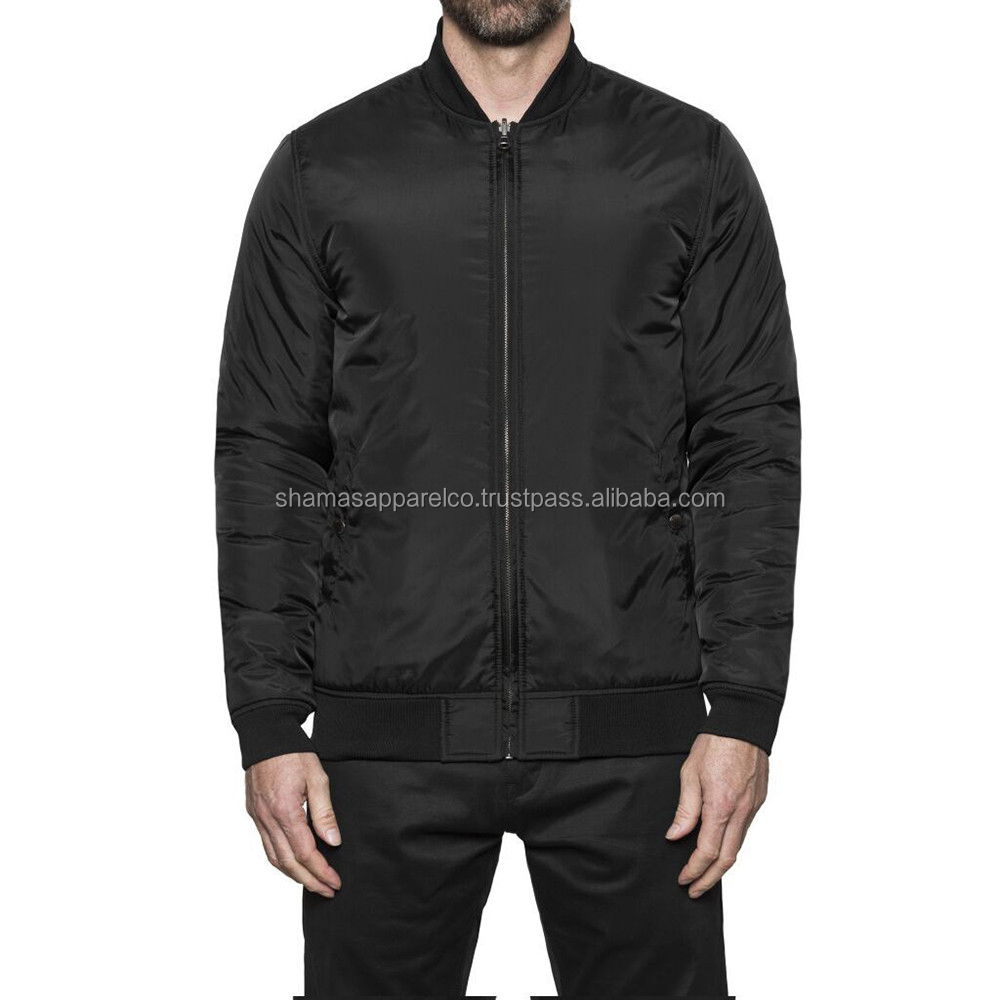 fashion satin winter jacket bomber jacket wholesale coats and jackets for men