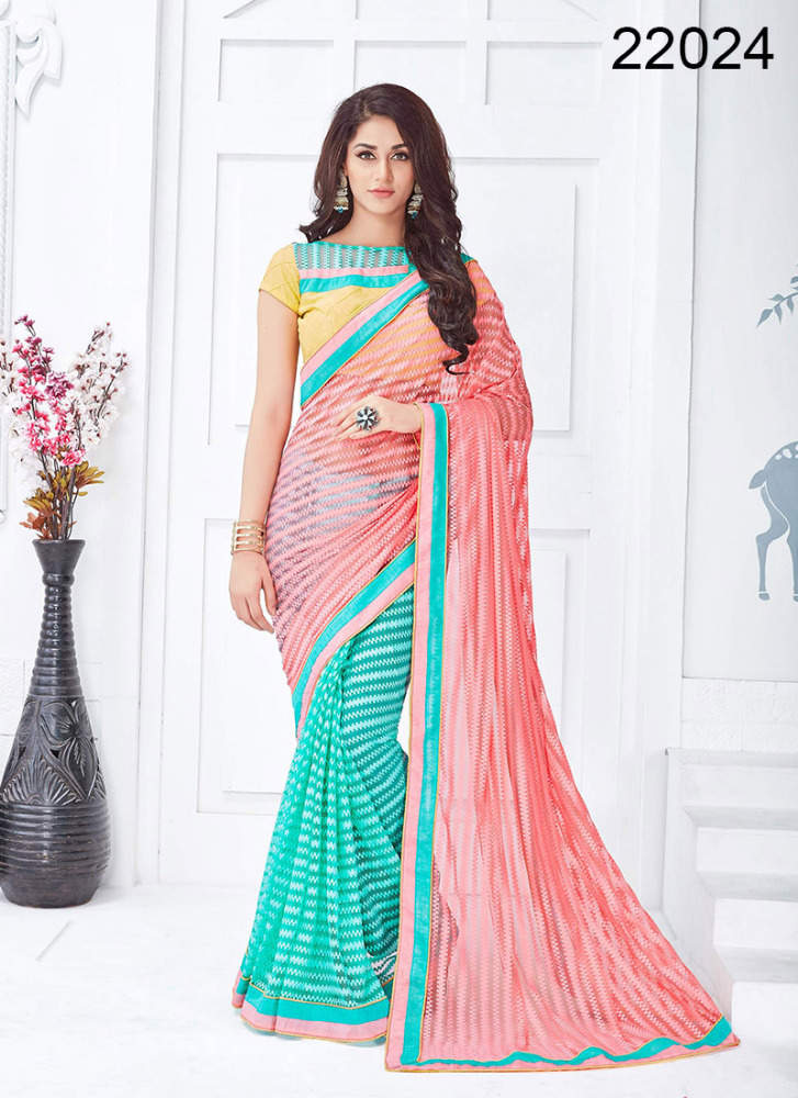 Desinger saree hot sexy plain saree with border designs