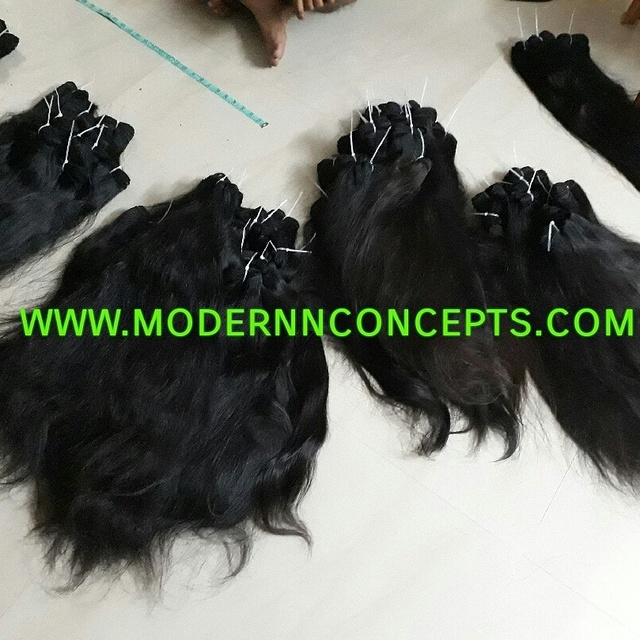 INDIAN TEMPLES WAVY MACHINE WEFT HAIR HAIR EXPORTS !!!